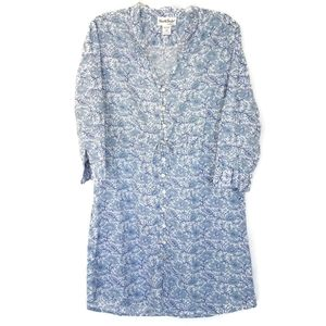 North Style Blue Floral Paisley Tunic Dress